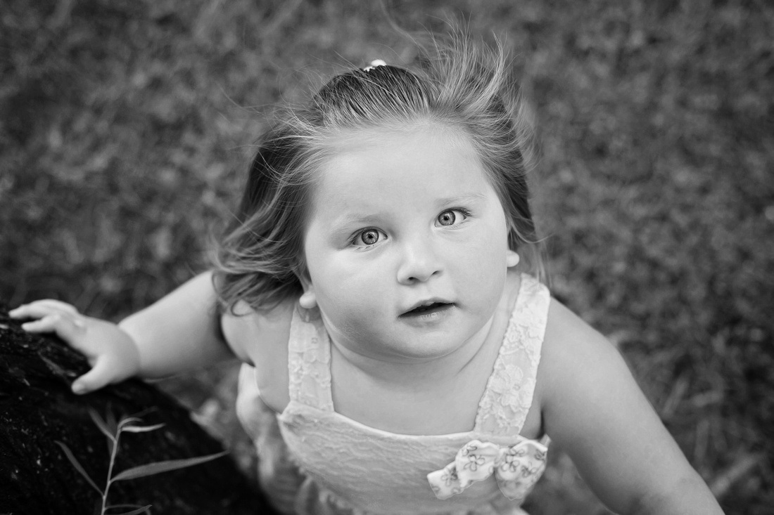 Black and white image of Madison by Pueblo Children's Photographer K.D. Elise Photography.